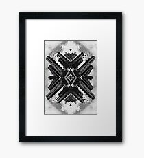 Black and White Abstract Art - City Three Framed Print