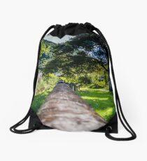 Along The Park Post Drawstring Bag
