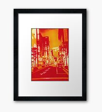 Abstract Japan Sunset Framed Print