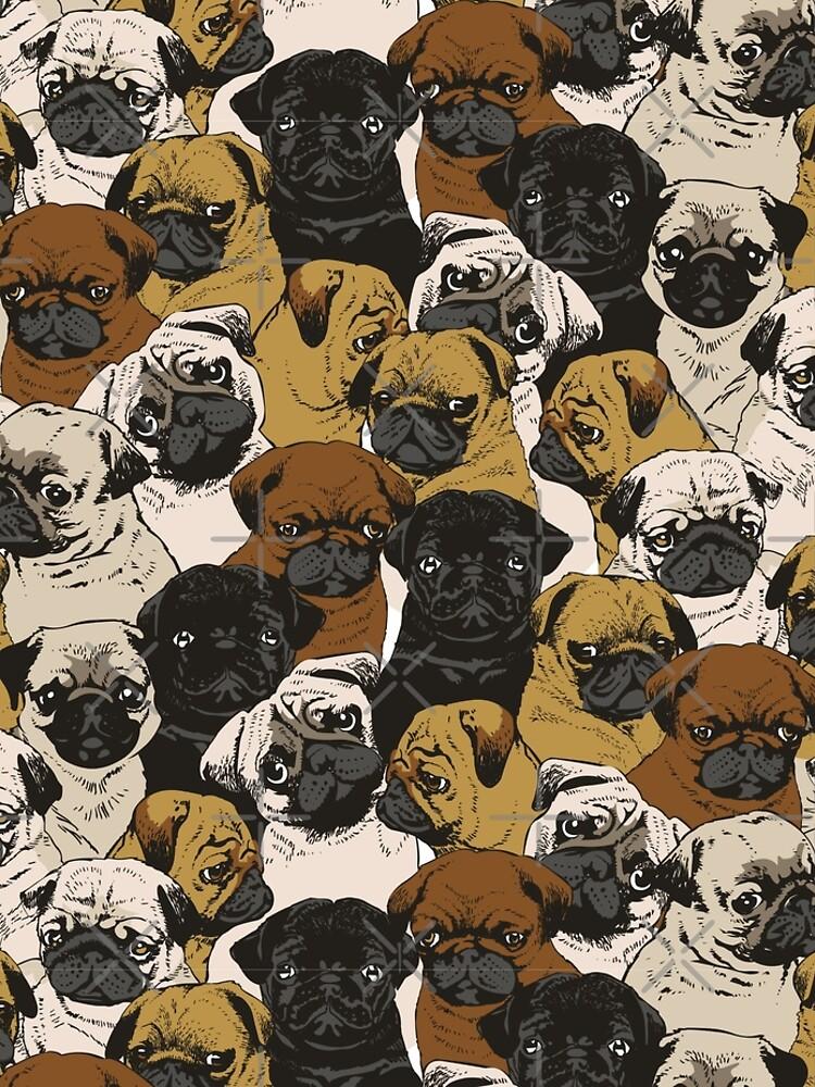 Social Pugs by Huebucket