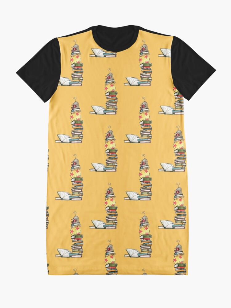 Alternate view of Reading mole Graphic T-Shirt Dress