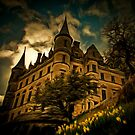 A digital painting of Dunrobin Castle, Sutherland, Scotland by Dennis Melling