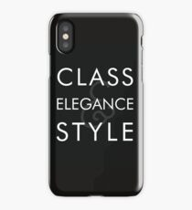 Class, Elegance, Style iPhone Case/Skin