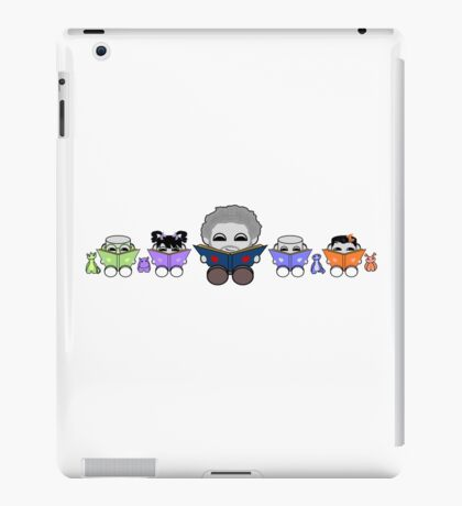Reading is a Family Affair: Grandpa Yo and O'BABYBOT Toy Robots 1.0 iPad Case/Skin