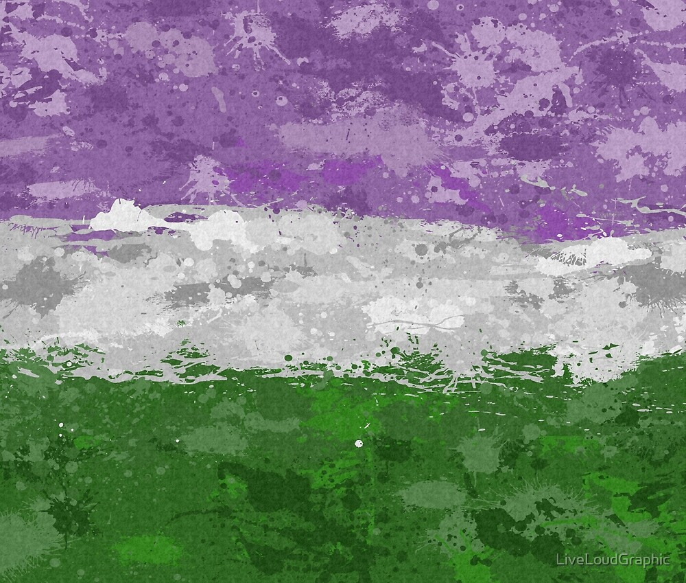 Genderqueer Paint Splatter Flag by LiveLoudGraphic
