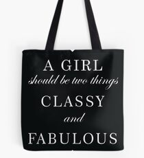 Bolsa de tela Con clase y fabuloso - Chanel Quote
