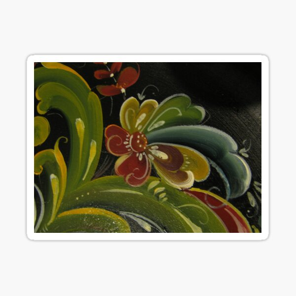 Rosemaling from Norway Sticker