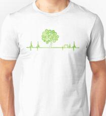 Cute Pulse Heartbeat trees Green earthday Unisex T-Shirt
