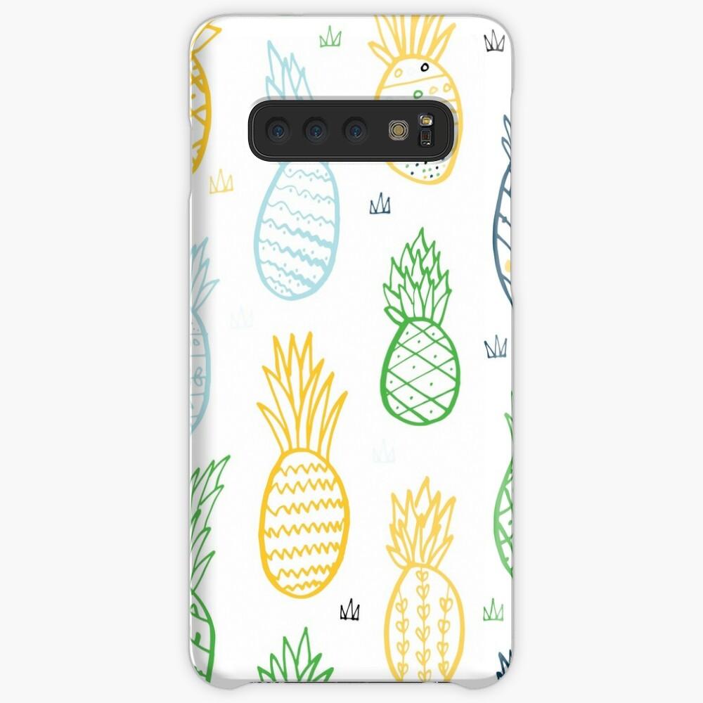 Tropisches Muster der Ananas Hülle & Klebefolie für Samsung Galaxy