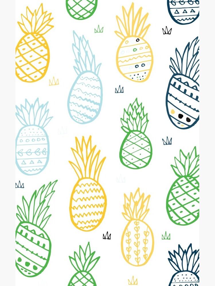 Tropisches Muster der Ananas von ullithehat