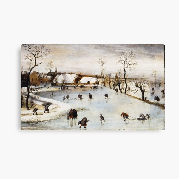 Jacob Grimmer - The Winter 1577 Canvas Print