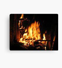 Immortals Fireplace Canvas Print