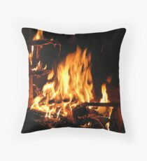 Immortals Fireplace Throw Pillow
