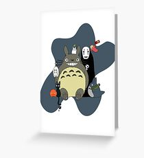 Studio Ghibli: Totoro, Jiji, Calcifer, Forest Spirit, Ponyo, Rat, Fly, Soot Sprite (customisable, check description!) Greeting Card