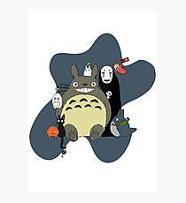 Studio Ghibli: Totoro, Jiji, Calcifer, Forest Spirit, Ponyo, Rat, Fly, Soot Sprite (customisable, check description!) Photographic Print