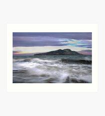 Twilight Holy Isle Art Print