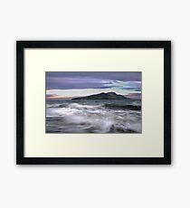 Twilight Holy Isle Framed Print