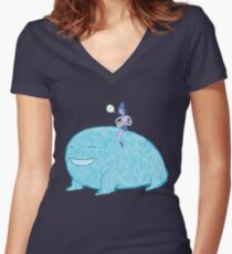 Uke on Yak Women's Fitted V-Neck T-Shirt