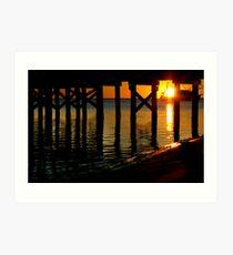 Sunset Under the Pier Art Print