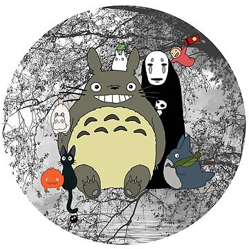 Studio Ghibli: Totoro, Jiji, Calcifer, Forest Spirit, Ponyo, Rat, Fly, Soot Sprite (customisable check artist notes) by AATdesign