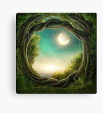 Magic Moon Tree Canvas Print