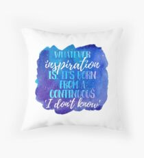 Cosmic Insp Quote Throw Pillow