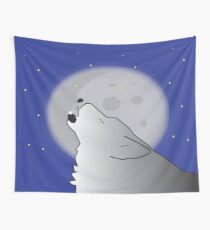 moon light wolf Wall Tapestry