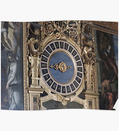 Doge's Palace Clock Poster
