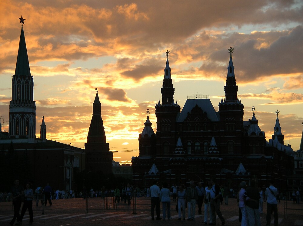 pink sky in red square by meikaile