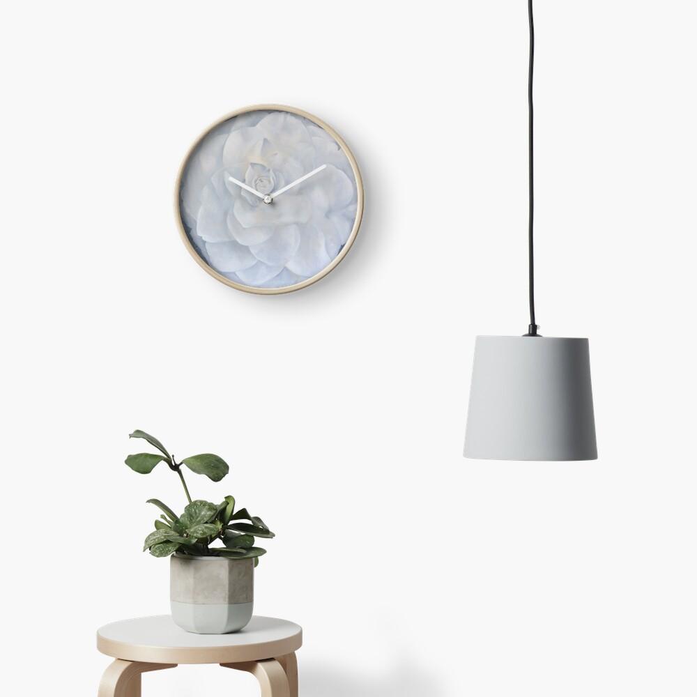 White Camelia Clock
