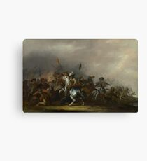 Jacob Weier - Cavalry Attacked By Infantry Canvas Print