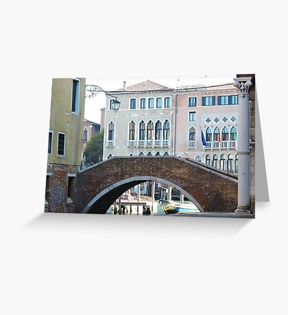 Venetian Bridge 090417 Greeting Card