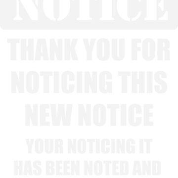 Fun Notice by conceptitude
