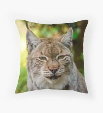 Eurasian Lynx Throw Pillow