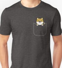Shiba Inu In Pocket Funny Puppy Graphic T-Shirt