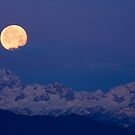 Moonset over the Julian Alps by Ian Middleton