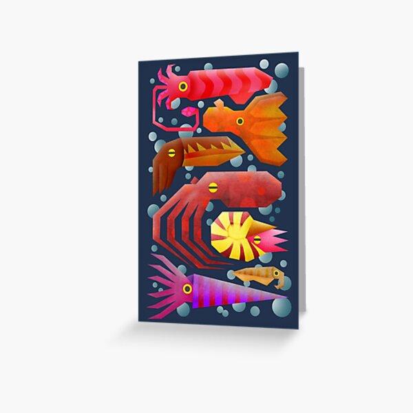 Cephalopods Tarjetas de felicitación