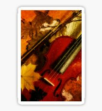 4 seasons. Autumn. Vertical Sticker