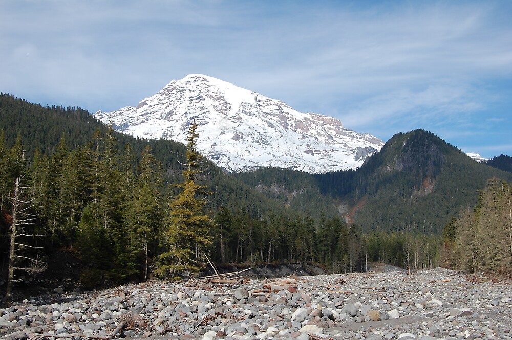 Mount Rainier Mid October by mrsnichols