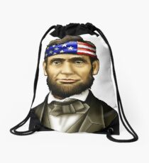 Abraham Lincoln T-shirt Drawstring Bag