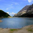Fedaia lake by annalisa bianchetti