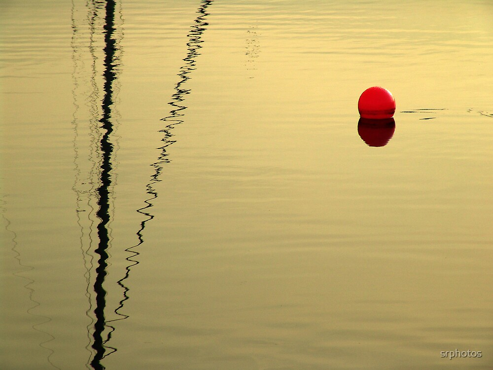 red buoy in sunset by srphotos