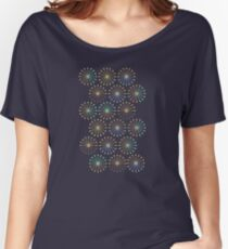 Geometric shapes of lines rays forming a circle Women's Relaxed Fit T-Shirt