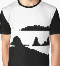 Black and white game-like mountains 2 Graphic T-Shirt