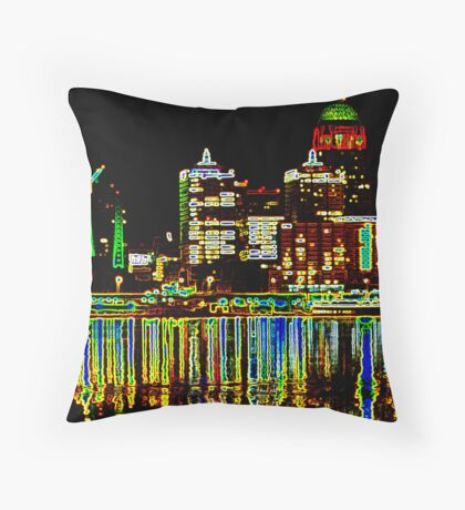 Lit Up Louisville Throw Pillow