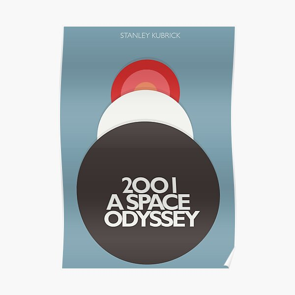 Stanley Kubrick, 2001 A Space Odyssey, minimal movie poster, sci-fi, fantasy classic film, blue version Poster