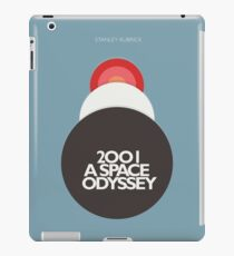 Stanley Kubrick, 2001 A Space Odyssey, minimal movie poster, sci-fi, fantasy classic film, blue version iPad Case/Skin