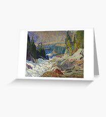 James Edward Hervey Macdonald - Falls, Montreal River Greeting Card