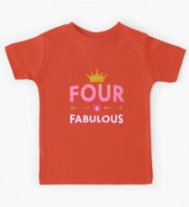 Cute 4th Birthday For Girls Princess Crown Four Gift Kids Clothes