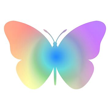 Mariposa pastel arcoiris de EuGeniaArt